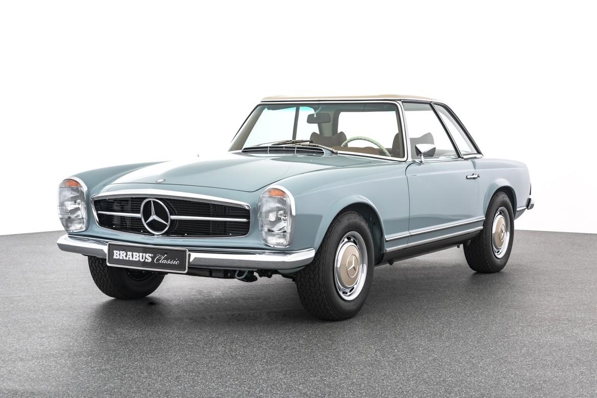 BRABUS Classic – 280 SL (1968) – Horizon blue with cognac