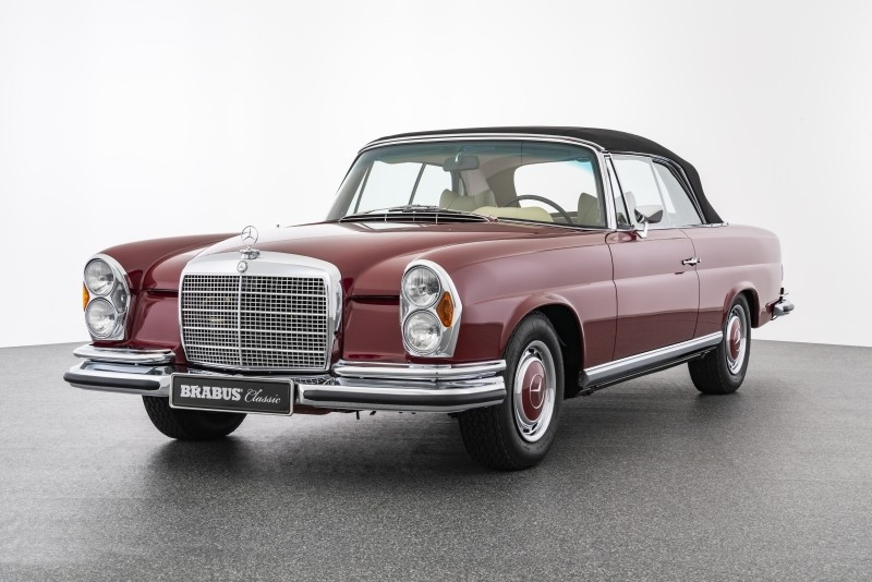 BRABUS Classic – (1971) 280 SE 3.5 CABRIOLET – red with parchment interior