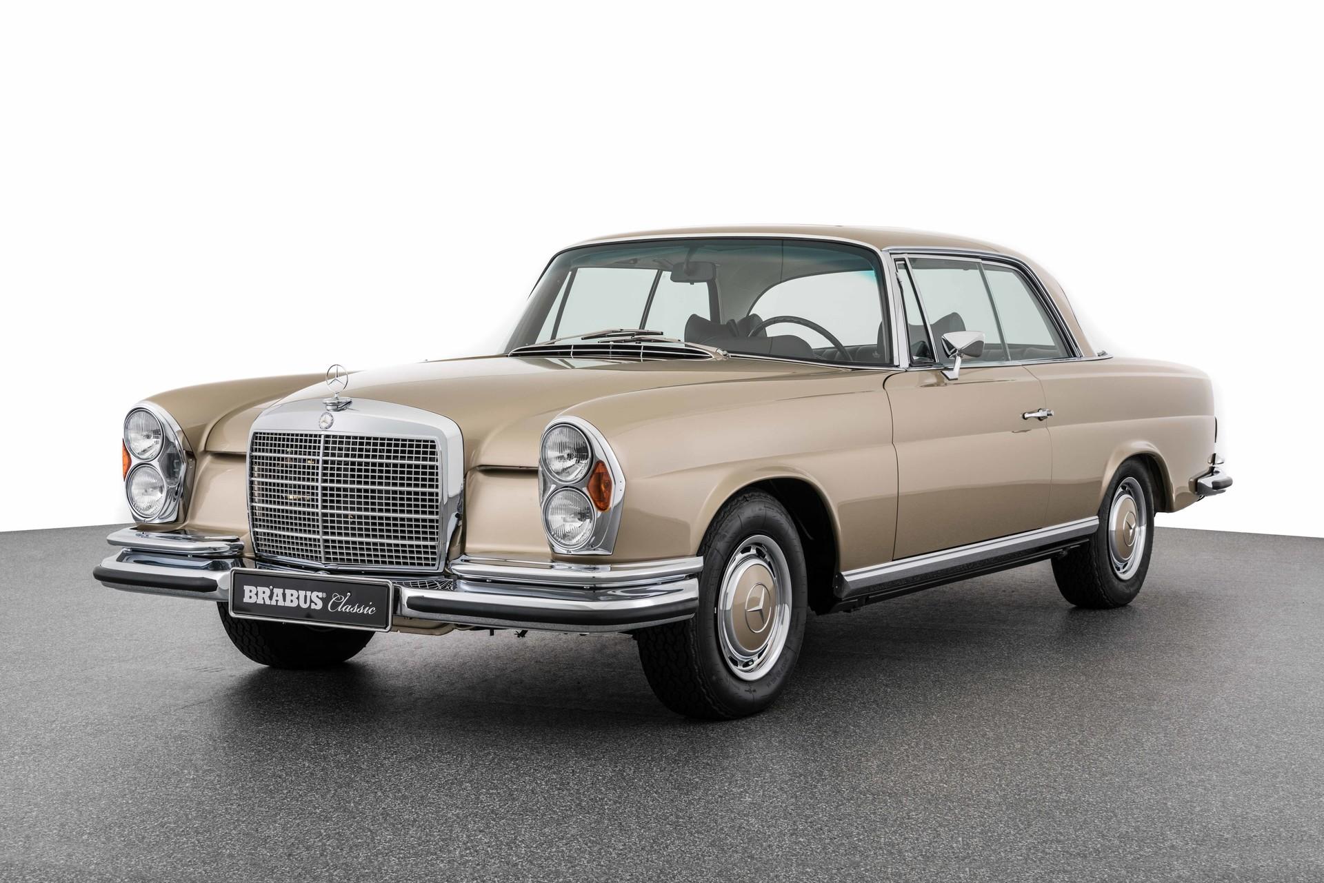 BRABUS Classic – (1969) 280 SE 3.5 COUPÉ – Tunisbeige with dark brown interior